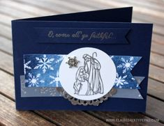 Stampin' Up! All Ye Faithful Christmas Card