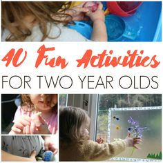 Need some inspiration? Check out these fun activities for two year olds with ideas for crafts, sensory play, outdoor activities and more!