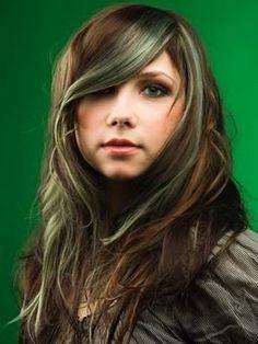 mint green hair on brunette - Google Search