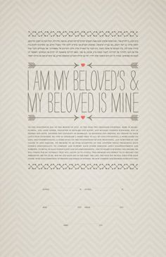 Ketubah - Double Arrows & Hearts (Printed on Italian Bookcloth) Arrow Print, Once Wed, Heart With Arrow, Heart Print, Vows, Custom Framing, Colorful Backgrounds, Giclee Print, Texts
