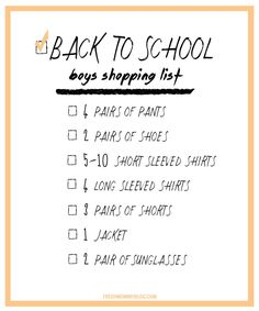 Back to School Shopp