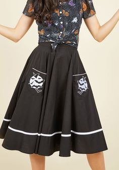 Fortune Favors the Cave Midi Skirt