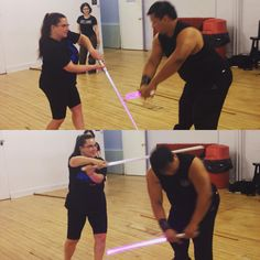 #Killing blow during our #lightsaber mini #gauntlet  #sithlife #sith #jedi #jeditraining #stagecombat #starwars #sizemattersnot