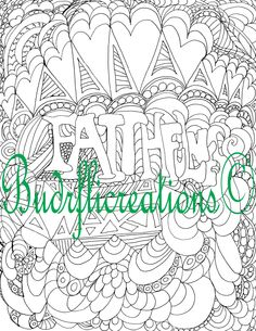 Faithfulness Fruits of the Spirit Coloring Page Printable Inspirational Download by Budrflicreations on Etsy