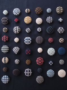 Kogin embroidery buttons