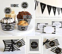 Printable Eid Decorations Pack Boutique by LittleWingsGallery Eid Moubarak, Eid Mubarak Banner, Eid Food, Eid Al Fitr, Ramadan Decorations, Happy Eid, Pillow Box, Table Cards, Mandala Design