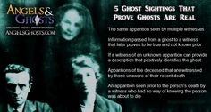 There are 5 types of ghost sightings that cannot be dis-proven and actually prove that ghosts are real. Please share this infographic from Angels & Ghosts within the ghost hunting community! Learn more about how these ghost encounters can validate the existence of ghosts: http://www.angelsghosts.com/best-ways-to-prove-ghosts-are-real