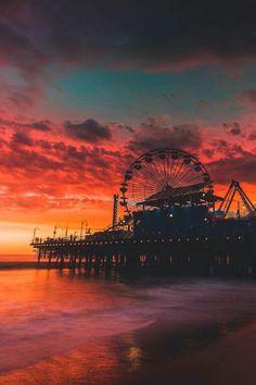 California Tumblr Sunset Pictures Santa Monica Living