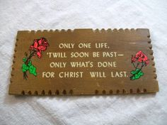 Bible Verse Vintage Wooden Plaque by VintagePlusCrafts on Etsy, $5.00