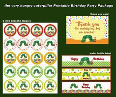 INSTANT DL The very hungry caterpillar  Birthday by RavenJony, $3.80