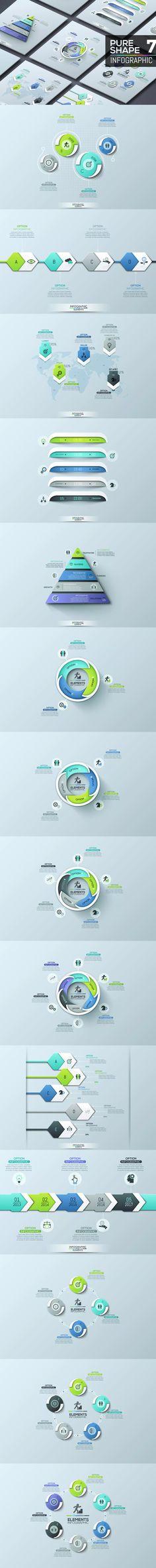 Pure Shape Infographic AI, EPS, PSD #unlimiteddownloads