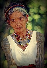 Whang Od (the oldest Kalinga tattoo artist) and the women of the Kalinga region in the Philippines