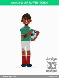 CHAR059_SoccerPlayerMexico. Part of D&M Character Kit.