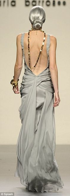 Maria Barros unveiled her autumn/winter 2012-2013 collection with stunning designs and silver hair