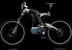 """This is a fast bike. It's called """"The Beast"""" and it's designed and executed by M55 Bikes and it goes 40 miles per hour. One charge on this electric bike and you'll go as far as 75 miles even off-road."""