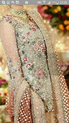 Simply stunning Pakistani Bridal Couture, Pakistani Wedding Outfits, Pakistani Dresses, Indian Dresses, Indian Outfits, Indian Bridal, Shadi Dresses, Bollywood, Awesome