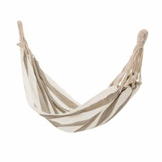 Every garden needs a hammock! The perfect way to enjoy relaxing in your outdoor (or even indoor space).  From the Danish homeware brand, Bloomingville, and made from soft and comfy 100% cotton in a contemporary pale grey stripe with strong twisted cotton ropes, we think this is going to be firm favourite.  Generously sized to surround you, just grab a book and chill, you will be asleep in no time! Rattan Egg Chair, Rattan Daybed, Hanging Egg Chair, Garden Hammock, Hammock Chair, Vintage Stool, Vintage Furniture, Grey Gardens, Outdoor Gardens