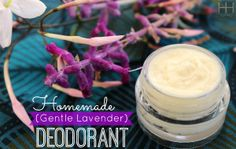 Homemade Deodorant (Gentle Lavender)   One of the first things I did after I adopted a real food diet was turn over all the body care products in my bathroom to read the ingredients.  Holy chemicals, batman! I mean, if we don't want to eat crap them why would we ask our skin to drink(...)