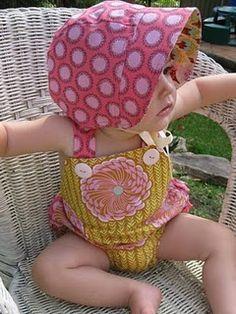 sunsuit and bonnet pattern/tutorial