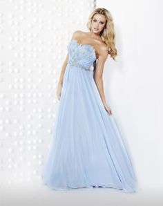 floor length dresses - love this shade of blue..
