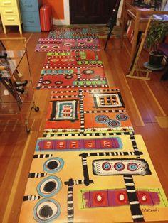 Painted Floor Cloths | Category: Painted Canvas Floor Cloth   Helvi Smith
