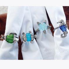 Sealife Napkin Rings. Super cute!