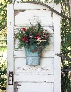 Your place to buy and sell all things handmade Christmas Wreaths For Front Door, Christmas Baskets, Christmas Tea, Christmas Door, Primitive Christmas, Rustic Christmas, Primitive Decor, Christmas Decorations, Holiday Decor