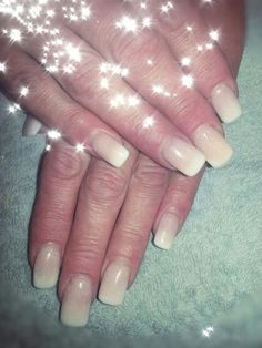 Faded acrylic glitter french
