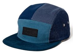 Blue Multi 5 Panel Cap by THE QUIET LIFE