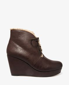 Faux Shearling Wedge Boots #30percentoff #bootup!