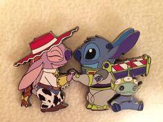 RARE Disney Toy Story Lilo And Stitch Angel Jessie Buzz Lightyear Fantasy Pin LE