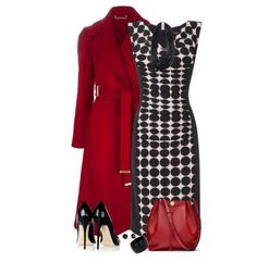 Nice print dress with statement coat