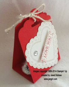 Jan Girl: Stampin up Scalloped Tag Topper and Angled Tag Topper Valentine Treat