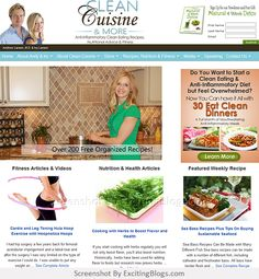 Clean Cuisine and More: Clean Eating, Eat Clean Recipes and Simple Workouts - Click to visit site:  http://1.33x.us/IiGOUM