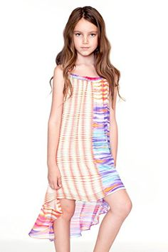 Truly Me Big Girls Tween Summer Seascape Hi Low Dress 716 16 -- Check out this great product.