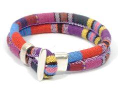 ethnic bracelet * bohemian chic cuff * fabric bracelet * hippie bracelet *colorful bracelet * fabric and zamak bracelet * colorful bracelet #bestofEtsy #silver