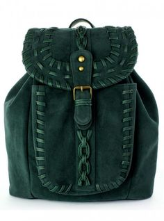 Unique fashion bags purses Green Knit Backpack - Bags - Goods - Retro, Indie and Unique Fashion Fashion Bags, Fashion Backpack, Womens Fashion, Backpack Bags, Rucksack Backpack, Leather Backpack, Mode Style, Style Me, Green Backpacks