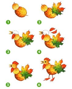 Fall leaf crafts for preschool: 14 easy art projects for 5 - 8 year olds Autumn Leaves Craft, Autumn Crafts, Autumn Art, Nature Crafts, Leaf Projects, Easy Art Projects, Animal Projects, Fun Craft, Craft Ideas