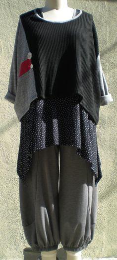 Pale Gray Lagenlook Plus Size Bumper Pant 60H by MyGreatShapes, $49.00