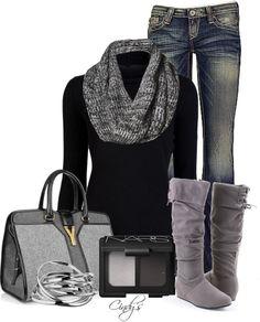 Grey boots by sweetziva