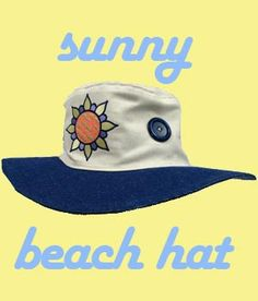 Look great and protect your eyes and face while at the beach, in the garden, running errands, out for a walk, or every time you want to look great!  Sunny designs and darling buttons make this cute hat fashionable to wear all summer long!