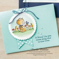 Pretty Kitty Clear-Mount Stamp Set by Stampin' Up! Pretty Kitty Clear-Mount Stamp Set by Stampin' Up! Making Greeting Cards, Greeting Cards Handmade, Cat Cards, Kids Cards, Pretty Cats, Pretty Kitty, Tarjetas Stampin Up, Stamping Up Cards, Animal Cards