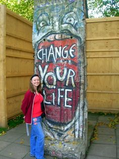 A section from the Berlin wall that came from an area near the Brandenburg Gate and was acquired by Britain's Imperial War Museum in 1991. Inspiring!