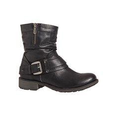 Duffy damestøvle i bikerlook  #duffy #støvler