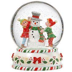 kathy ireland Home® Elves Snowglobe Figurine by Gorham