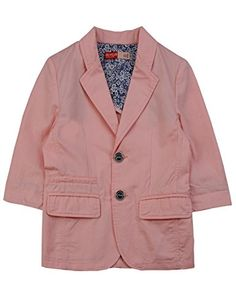 BYCR Boys' 3/4 Sleeves Cotton Blazer Jacket for Kids Size 4-12 No. 7160100232 * To view further, visit
