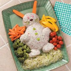 Party at Easter? Perfect...Cheese Spread...love the display!