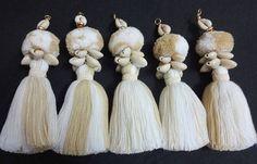 5 PCs Cowrie Shell Tassels Purse & Handbag Decoration Cowrie
