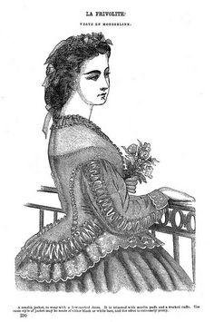La Frivolite ~ Godey's Lady's Book, March 1864