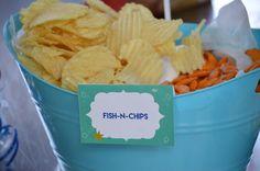 Kais' Whale Theme Party | CatchMyParty.com